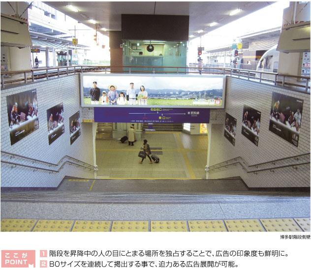JR博多駅ホーム 階段ジャック